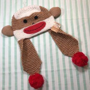 🎁 NEW Sock Monkey Beanie Hat